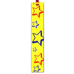 Star Yellow Red Blue Large Book Marks by AnjaniArt