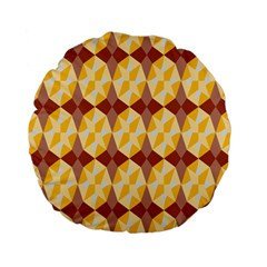 Star Brown Yellow Light Standard 15  Premium Flano Round Cushions by AnjaniArt