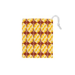 Star Brown Yellow Light Drawstring Pouches (XS)  by AnjaniArt