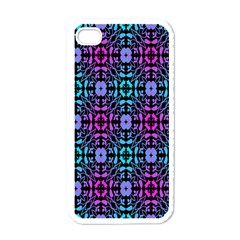 Star Flower Background Pattern Colour Apple Iphone 4 Case (white) by AnjaniArt