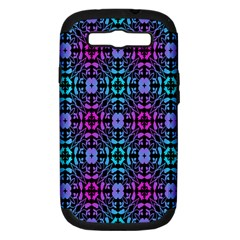 Star Flower Background Pattern Colour Samsung Galaxy S Iii Hardshell Case (pc+silicone) by AnjaniArt