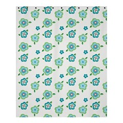 Valentine Chevron Papers Flower Floral Green Flowering Shower Curtain 60  X 72  (medium)  by AnjaniArt