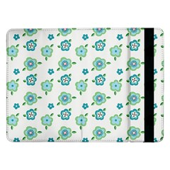 Valentine Chevron Papers Flower Floral Green Flowering Samsung Galaxy Tab Pro 12 2  Flip Case by AnjaniArt