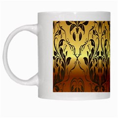 Vintage Gold Gradient Golden Resolution White Mugs by AnjaniArt