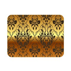 Vintage Gold Gradient Golden Resolution Double Sided Flano Blanket (mini)  by AnjaniArt
