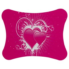 Valentine Floral Heart Pink Jigsaw Puzzle Photo Stand (bow) by AnjaniArt