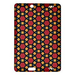 Tiling Flower Star Red Amazon Kindle Fire Hd (2013) Hardshell Case by AnjaniArt