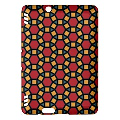 Tiling Flower Star Red Kindle Fire Hdx Hardshell Case by AnjaniArt