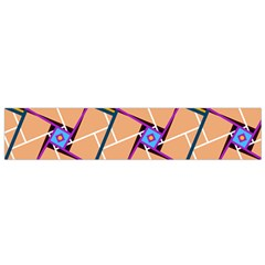 Wallpaper Overlaid Brown Line Purple Blue Box Flano Scarf (small) by AnjaniArt