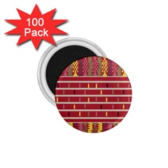 Woven Fabric Pink 1 75  Magnets (100 Pack)  by AnjaniArt