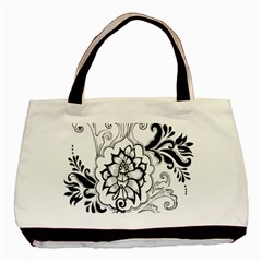 Free Floral Decorative Basic Tote Bag by AnjaniArt