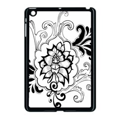 Free Floral Decorative Apple Ipad Mini Case (black) by AnjaniArt