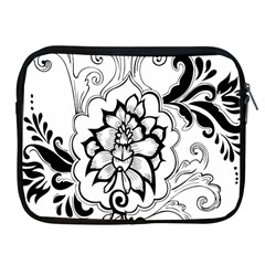 Free Floral Decorative Apple Ipad 2/3/4 Zipper Cases by AnjaniArt