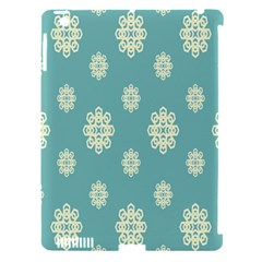 Geometric Snowflake Retro Snow Blue Apple Ipad 3/4 Hardshell Case (compatible With Smart Cover) by AnjaniArt