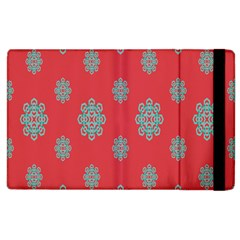 Geometric Snowflake Retro Red Apple Ipad 3/4 Flip Case by AnjaniArt
