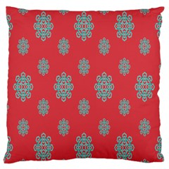 Geometric Snowflake Retro Red Standard Flano Cushion Case (one Side) by AnjaniArt