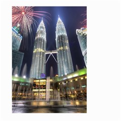 New Years Eve Petronas Towers Kuala Lumpur Malaysia Large Garden Flag (two Sides) by Onesevenart