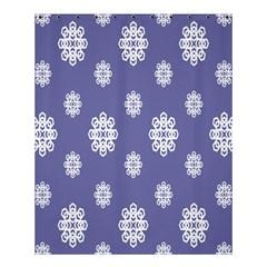 Geometric Snowflake Retro Purple Shower Curtain 60  X 72  (medium)  by AnjaniArt