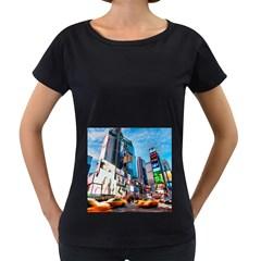 New Years Eve Petronas Towers Kuala Lumpur Malaysia Women s Loose-Fit T-Shirt (Black) by Onesevenart