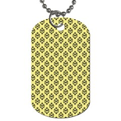 Halloween Scrapbook Paper Bat Yellow Dog Tag (one Side) by AnjaniArt