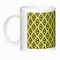 Halloween Scrapbook Paper Bat Yellow Night Luminous Mugs by AnjaniArt