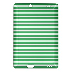 Horizontal Stripes Green Amazon Kindle Fire Hd (2013) Hardshell Case by AnjaniArt