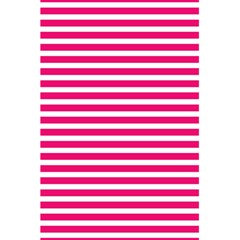 Horizontal Stripes Hot Pink 5 5  X 8 5  Notebooks by AnjaniArt