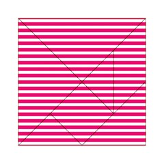 Horizontal Stripes Hot Pink Acrylic Tangram Puzzle (6  x 6 ) by AnjaniArt