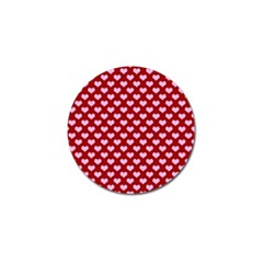 Hearts Love Valentine Pink Day Happy Wallpaper Golf Ball Marker (10 Pack) by AnjaniArt
