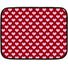 Hearts Love Valentine Pink Day Happy Wallpaper Double Sided Fleece Blanket (mini)  by AnjaniArt