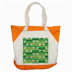 Mint Green Accent Tote Bag by AnjaniArt