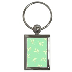 Pastel Leaves Key Chains (rectangle)  by AnjaniArt