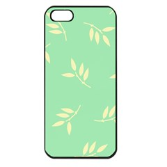 Pastel Leaves Apple Iphone 5 Seamless Case (black) by AnjaniArt