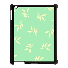 Pastel Leaves Apple iPad 3/4 Case (Black) by AnjaniArt