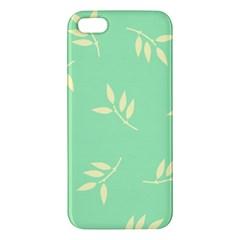 Pastel Leaves Iphone 5s/ Se Premium Hardshell Case by AnjaniArt