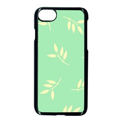 Pastel Leaves Apple iPhone 7 Seamless Case (Black) by AnjaniArt