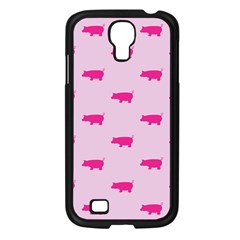 Pig Pink Animals Samsung Galaxy S4 I9500/ I9505 Case (black) by AnjaniArt