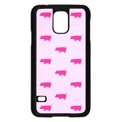 Pig Pink Animals Samsung Galaxy S5 Case (black) by AnjaniArt