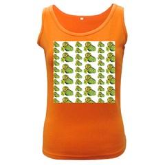Parrot Bird Green Animals Women s Dark Tank Top by AnjaniArt