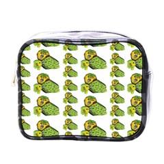 Parrot Bird Green Animals Mini Toiletries Bags by AnjaniArt