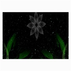 Night Sky Flower Large Glasses Cloth (2 Side) by AnjaniArt