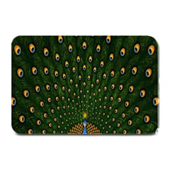 Peacock Feathers Green Plate Mats by AnjaniArt