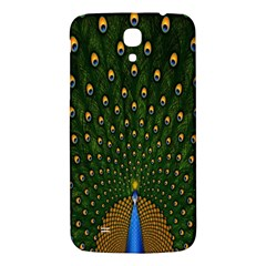 Peacock Feathers Green Samsung Galaxy Mega I9200 Hardshell Back Case by AnjaniArt