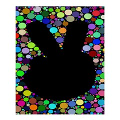 Prismatic Negative Space Comic Peace Hand Circles Shower Curtain 60  X 72  (medium)  by AnjaniArt