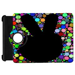 Prismatic Negative Space Comic Peace Hand Circles Kindle Fire Hd 7  by AnjaniArt