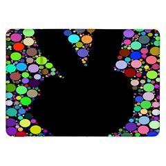 Prismatic Negative Space Comic Peace Hand Circles Samsung Galaxy Tab 8 9  P7300 Flip Case by AnjaniArt
