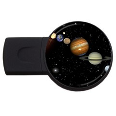 Outer Space Planets Solar System Usb Flash Drive Round (2 Gb) by Onesevenart