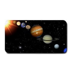 Outer Space Planets Solar System Medium Bar Mats by Onesevenart