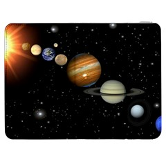 Outer Space Planets Solar System Samsung Galaxy Tab 7  P1000 Flip Case by Onesevenart