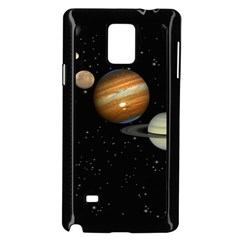 Outer Space Planets Solar System Samsung Galaxy Note 4 Case (black) by Onesevenart